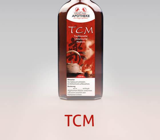 Flasche mit TCM-Arzneimitteln